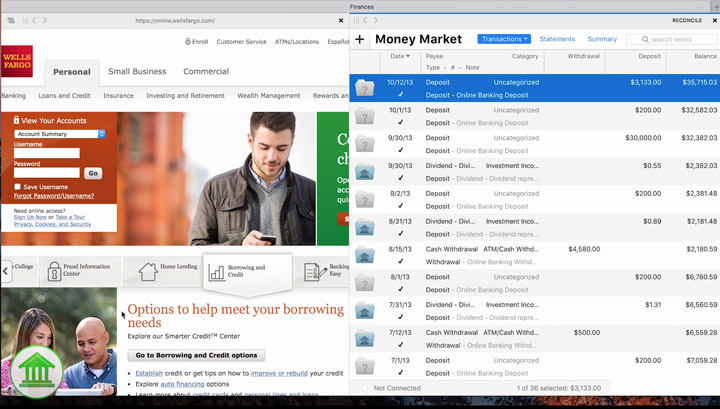 Banktivity 6 Workspaces