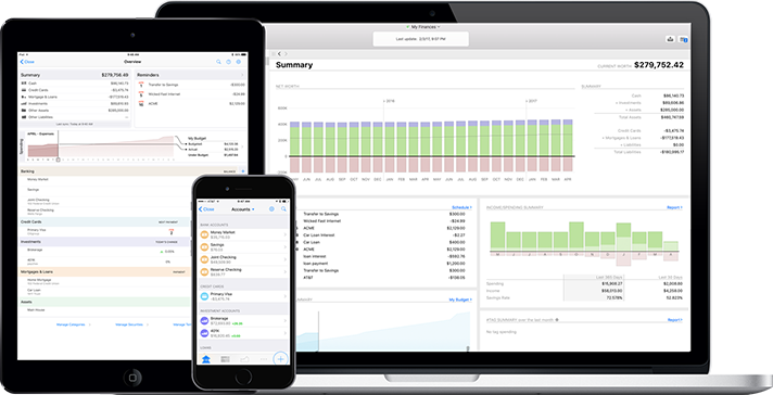 The Banktivity product family, personal finance software for macOS and iOS