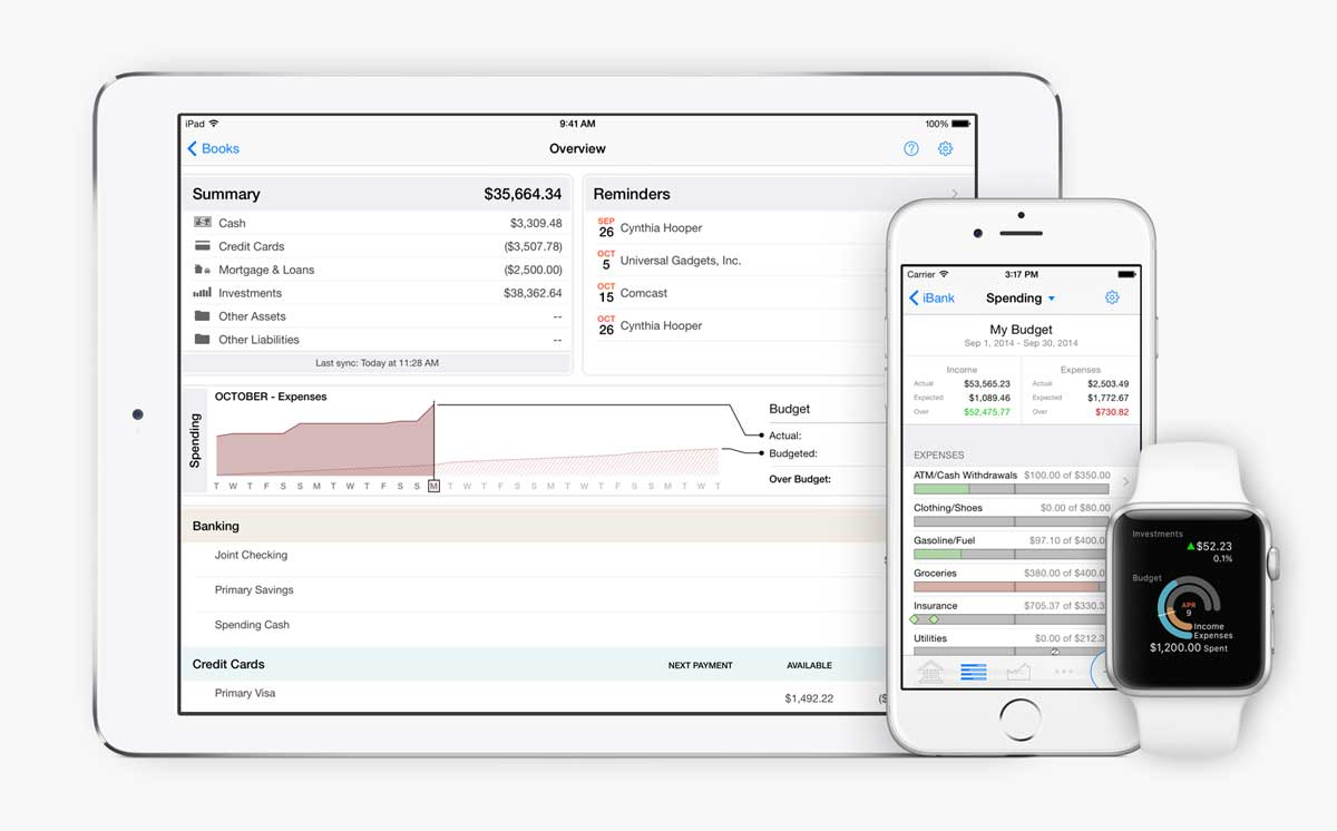 Banktivity on iPad, iPhone, and Apple Watch