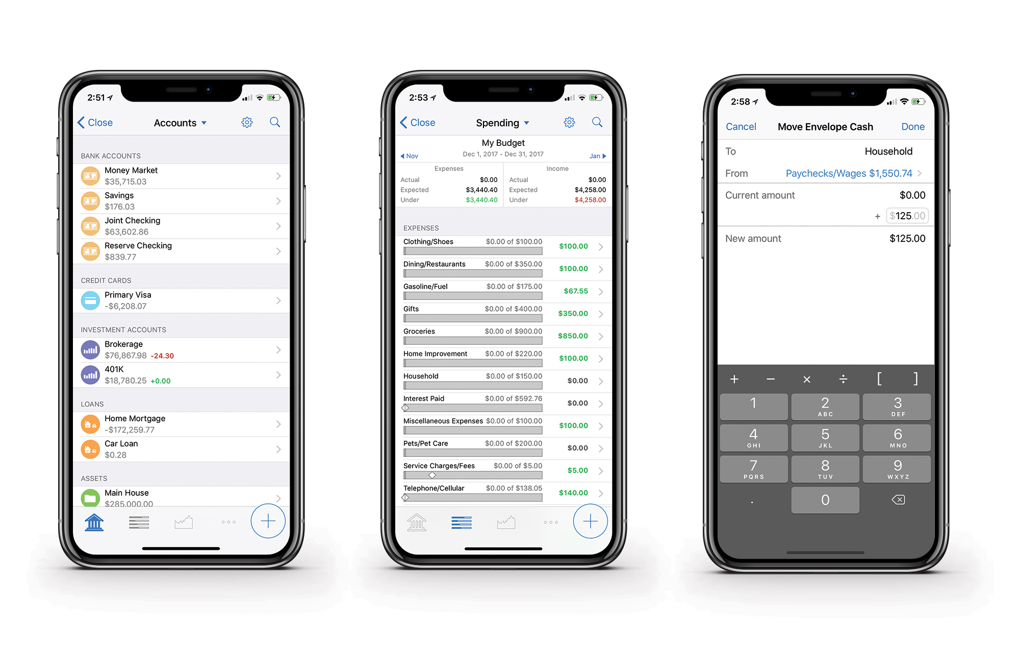 Banktivity on iPhone X